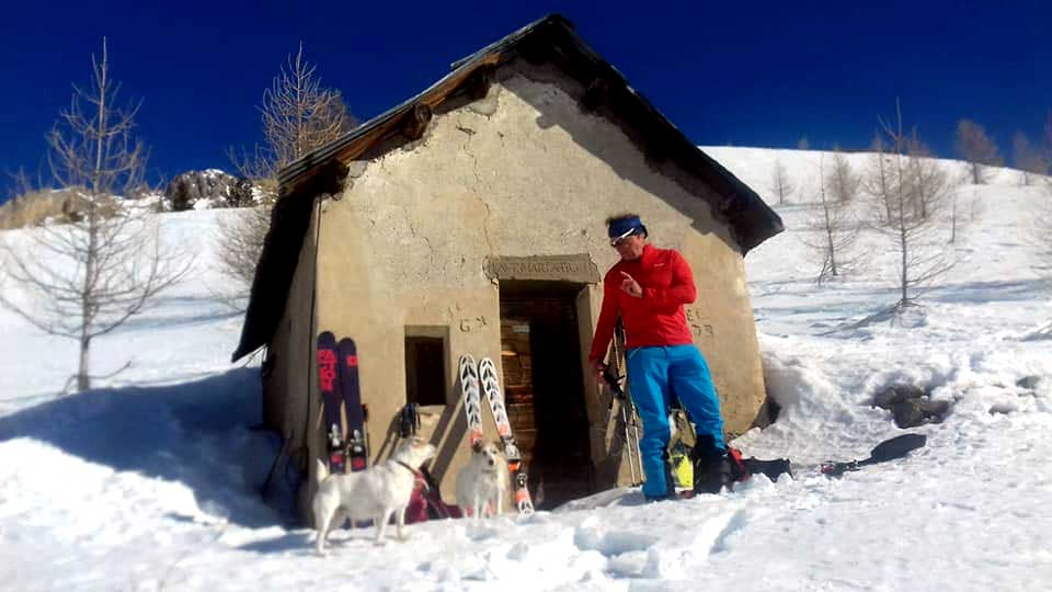 Ski touring Serre Chevalier with Dogs