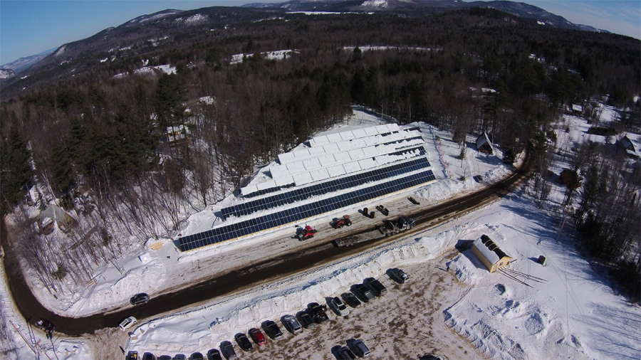 ski resort solar energy