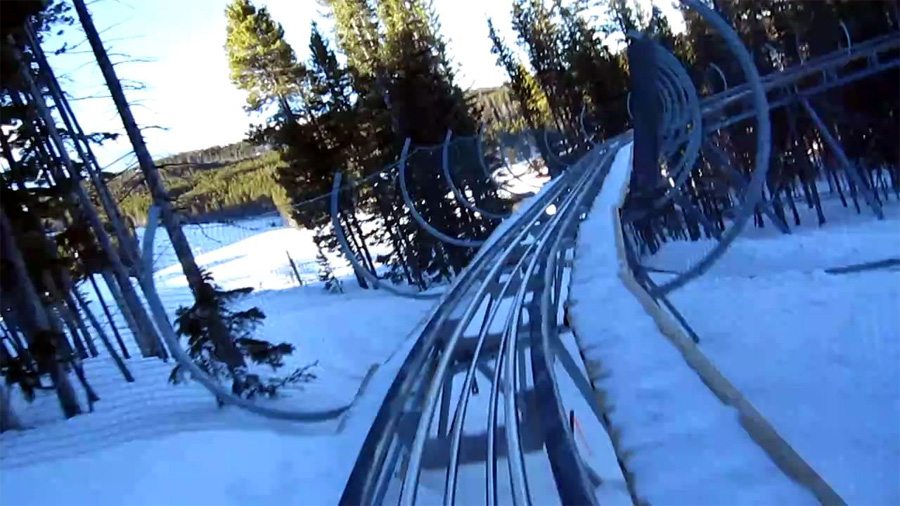 roller coaster ski resort