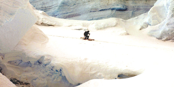 skiing Antarctic
