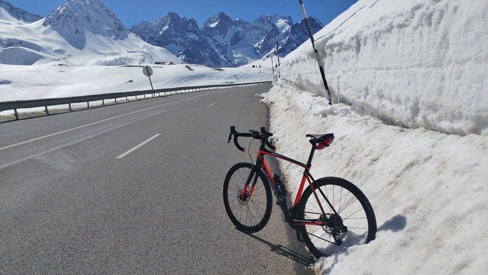 bike snow Col Du Lautaret