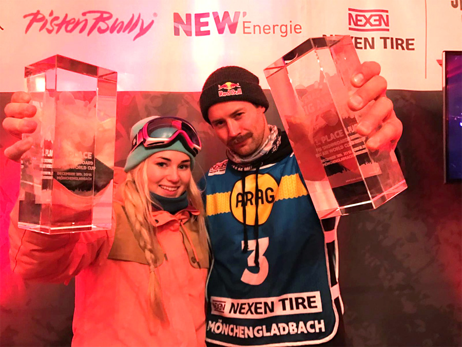 Big Air World Cup Medals for GB Park & Pipe in Germany