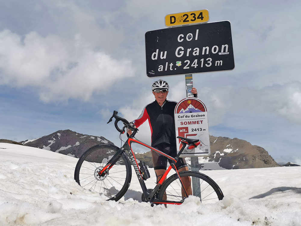 Col du Granon cycling to the snow line and the summit