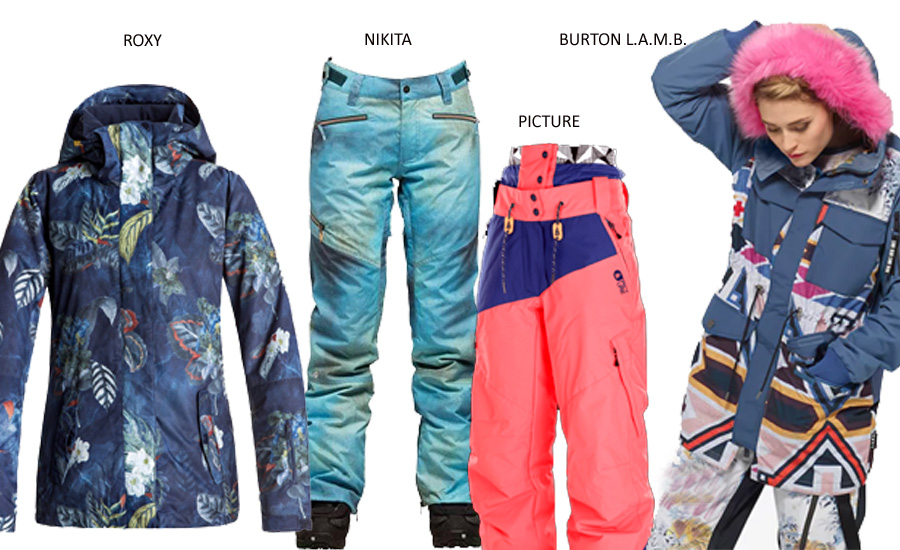 womens ski and snowboard wear 17-18