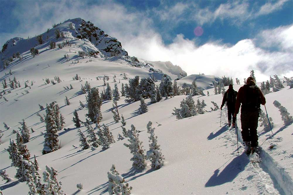 Meribel ski touring